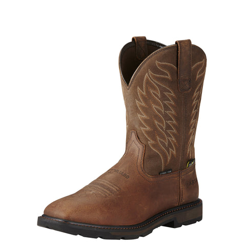 Ariat Men's Groundbreaker Wide Square Toe Metguard Steel Toe Boot - Brown
