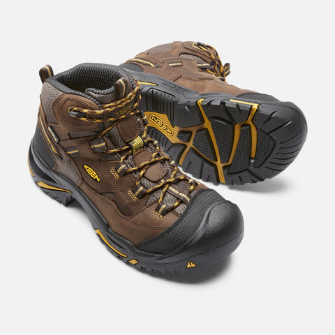 Keen Utility Men's Braddock Mid Waterproof Boot - Cascade Brown/Tawny Ol