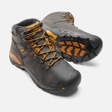 Keen Utility Men's Cleveland Soft Toe Boot - Raven/Inca Gold