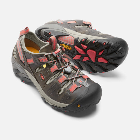 Keen Utility Women's Atlanta Cool Soft Toe ESD Shoe - Gargoyle/Hot
