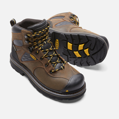 Keen Utility Men's Tacoma Soft Toe Waterproof Boot - Cascade Brown