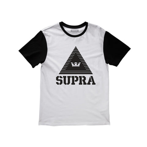 Supra Men's Triangle Colorblock T-Shirt White / Black