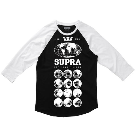 Supra Men's Worldwide Premium Raglan Black / White