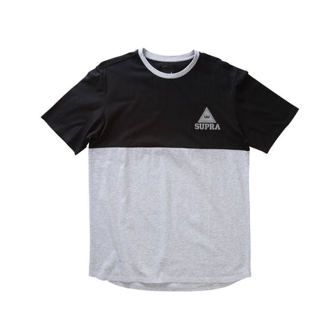 Supra Men's Block Short Sleeve Crew Black/Heather Grey
