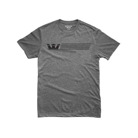 Supra Men's Crownstripe Reg Tee Grey Heather