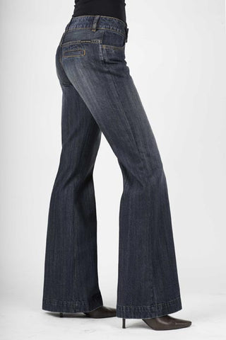 Stetson Ladies 214 City Trouser/ Dark Wash -Reg Only Jeans