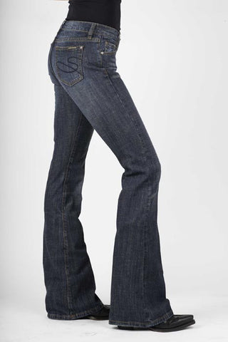 Stetson Ladies 816 Classic Boot Cut/Dark Wash/Stretch Jeans