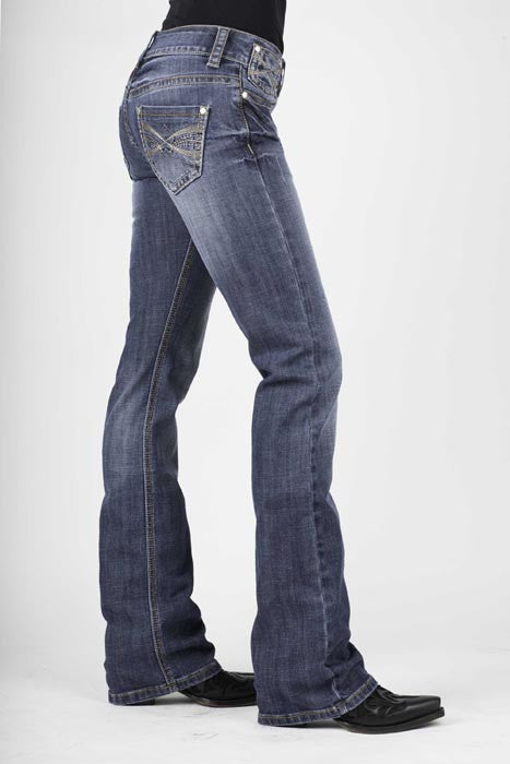 Stetson Ladies Vtrsm Stylized X 7 Line Stitching Jeans