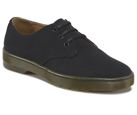 Dr. Martens Men's Delray Overdyed Twill Canvas 3 Eye Shoe