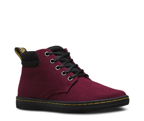 Dr. Martens Women's Belmont CANVAS+GAME ON Padded Collar 5 Eye Boot