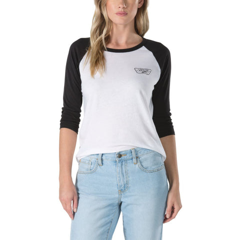 Vans Women's Full Patch Raglan - White Black