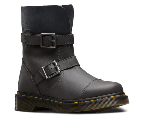 Dr. Martens Women's Kristy Virginia+Darken Suede Slouch Rigger Boot