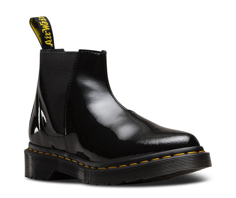 Dr. Martens Women's Bianca Patent Lamper Low-Shaft Chelsea