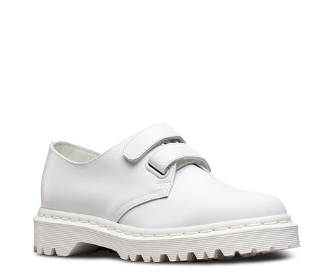 Dr. Martens Women's Laureen Velcro Strap Shoe White