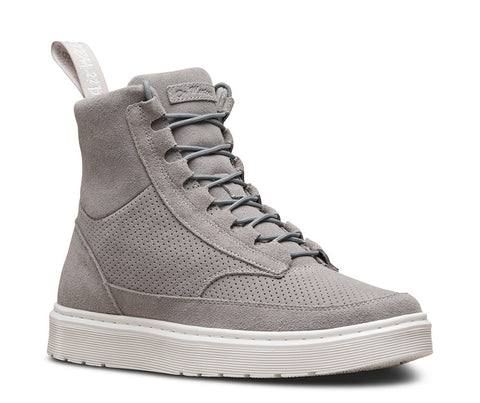 Dr. Martens Men's Kamar 8 Eye Boot Mid Grey