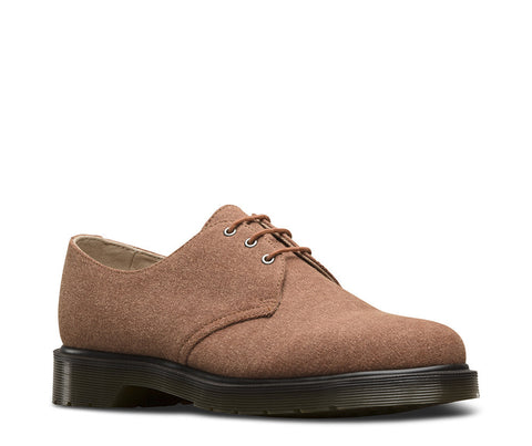 Dr. Martens Men's Lester 3 Eye Shoe Dark Tan