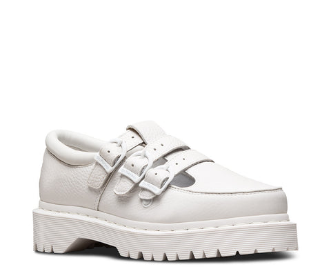 Dr. Martens Women's Freya Triple Strap Mary Jane Shoe White