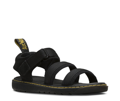 Dr. Martens Youth Zachary Tech 3 Strap Sandal Black