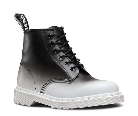 Dr. Martens Men's 101 6 Eye Boot White/Black