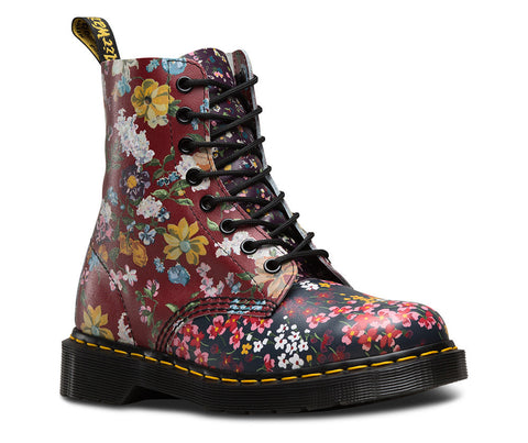Dr. Martens Women's Floral Pascal 8 Eye Boot Multi