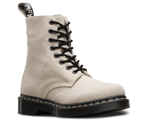 Dr. Martens Women's Page Mix 8 Eye Boot Bone/Porcelain