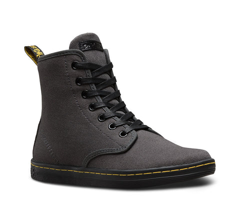 Dr. Martens Women's Shoreditch Overdyed Twill Canvass 7 Eye Boot