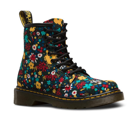 Dr. Martens Girl's Delaney Wanderflora Lace Boot, Multi