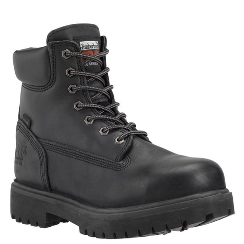 "Timberland PRO Men's Direct Attach 6"" Steel Toe Boots Black Full-Grain"
