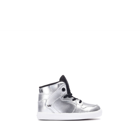 Supra Toddler Vaider Sneakers Metallic Silver - White