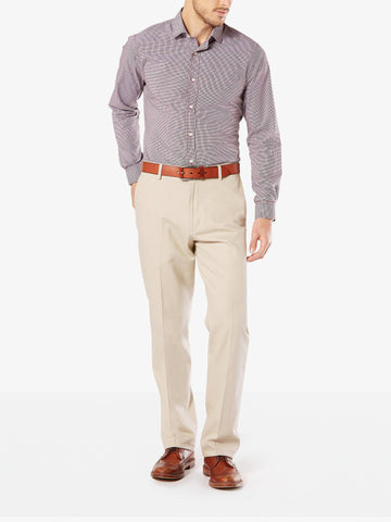 Dockers Men's B&T Signature Stretch Flat Front Pant Cloud Stretch Twil