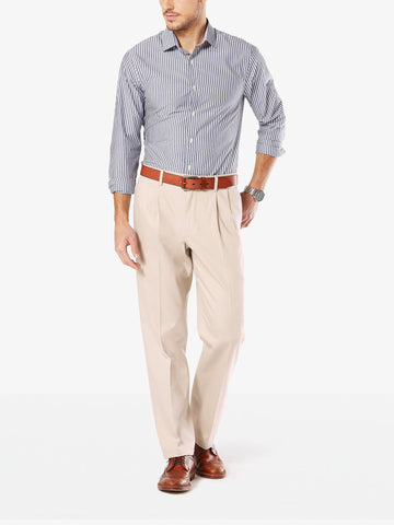 Dockers Men's B&T Signature Stretch Pleated Pant Cloud