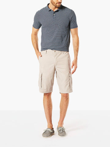 Dockers Men's Standard Washed Cargo Short Safari Beige