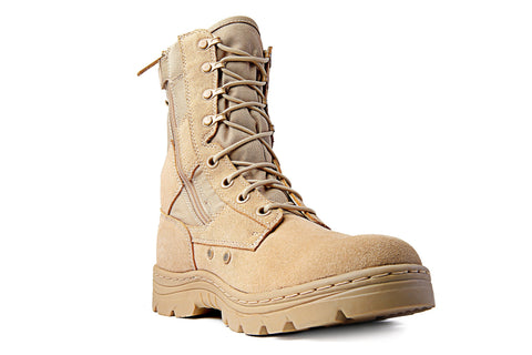"Ridge 3105 Dura-Man Desert Tan 8"" Zipper Boot"