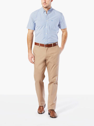 Dockers Men's Standard Clean Khaki Stretch Pant Timber Wolf
