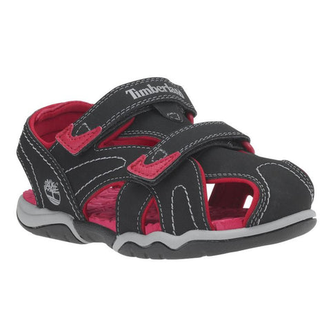 Timberland Kid's Adventure Seeker Closed-Toe Sandals Blackout/Red