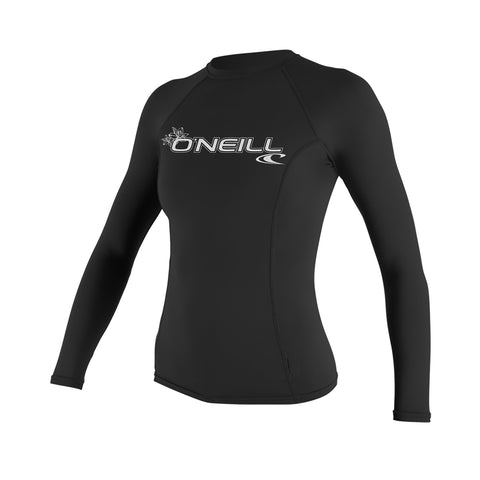 O'Neill Basic Skins Long Sleeve Crew Shirt Black