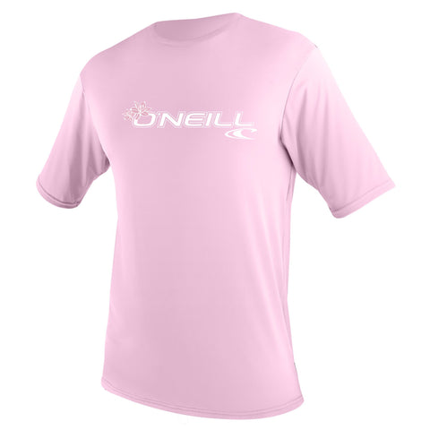 O'Neill Basic Skins Short Sleeve Rash Tee Pink