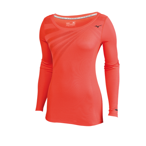 Mizuno Run Women's Breath Thermo Body Map Long Sleeve