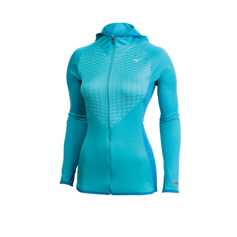 Mizuno Run Women's Breath Thermo Double Knit Full-Zip Hoody