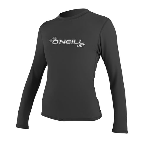 O'Neill Basic Skins Long Sleeve Rash Tee Black