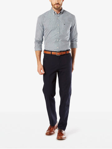 Dockers Men's Signature Stretch Slim Flat Front Pant Dockers Navy