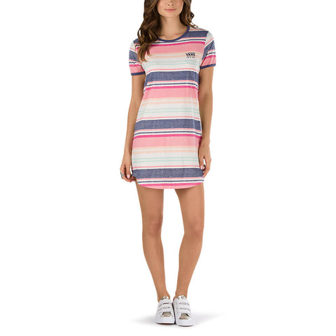 Vans Women's Sierra Tee Dress Blanket Stripe