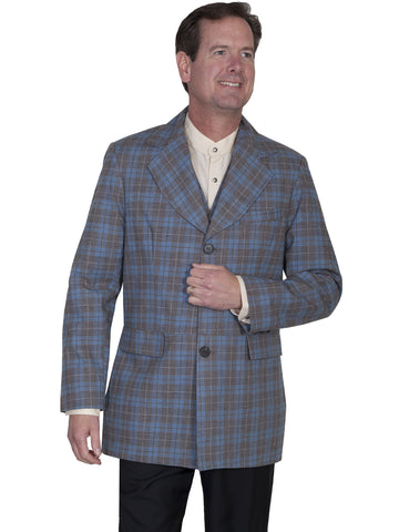 Scully 541489 Men's Plaid Town Coat