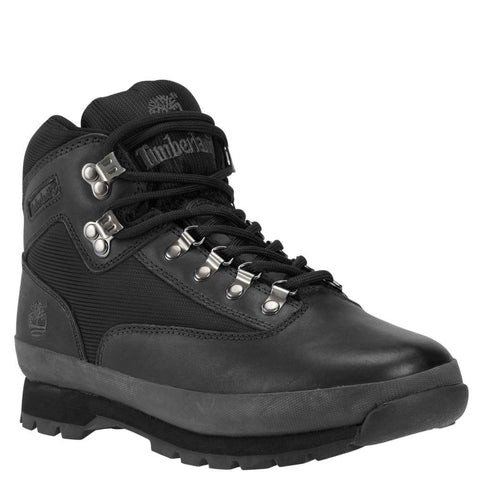 Timberland Men's Euro Hiker Boots Black Smooth/Black