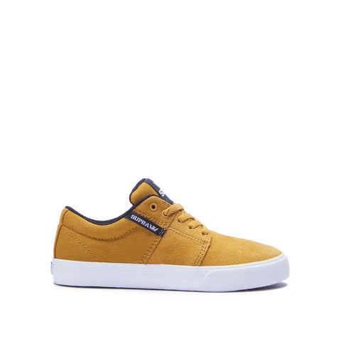 Supra Kids Stacks II Vulc Sneakers Amber Gold - White