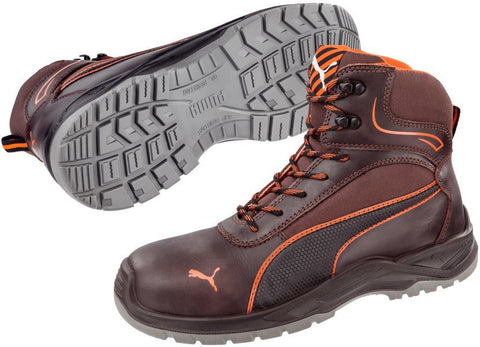 Puma Safety Men's Atomic Mid Shoe Brown