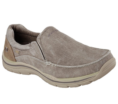 Skechers Men's Relaxed Fit®: Expected - Avillo Shoe (Extra Wide) Khaki