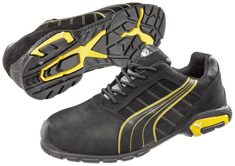 Puma Safety Men's Amsterdam Low Shoe Black/Yellow