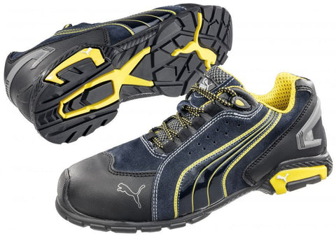 Puma Safety Men's Rio Low S1P SRC Shoe Black/Yellow