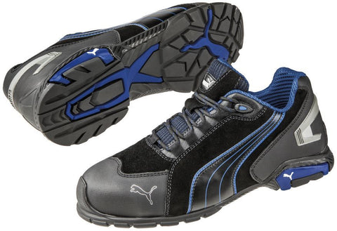 Puma Safety Men's Rio Low S3 SRC Shoe Black/Blue